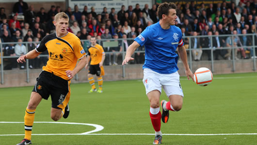 Annan Athletic Football Club action photo