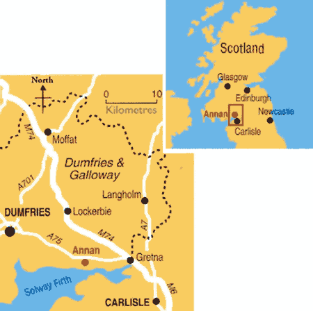 Map of the Annan area