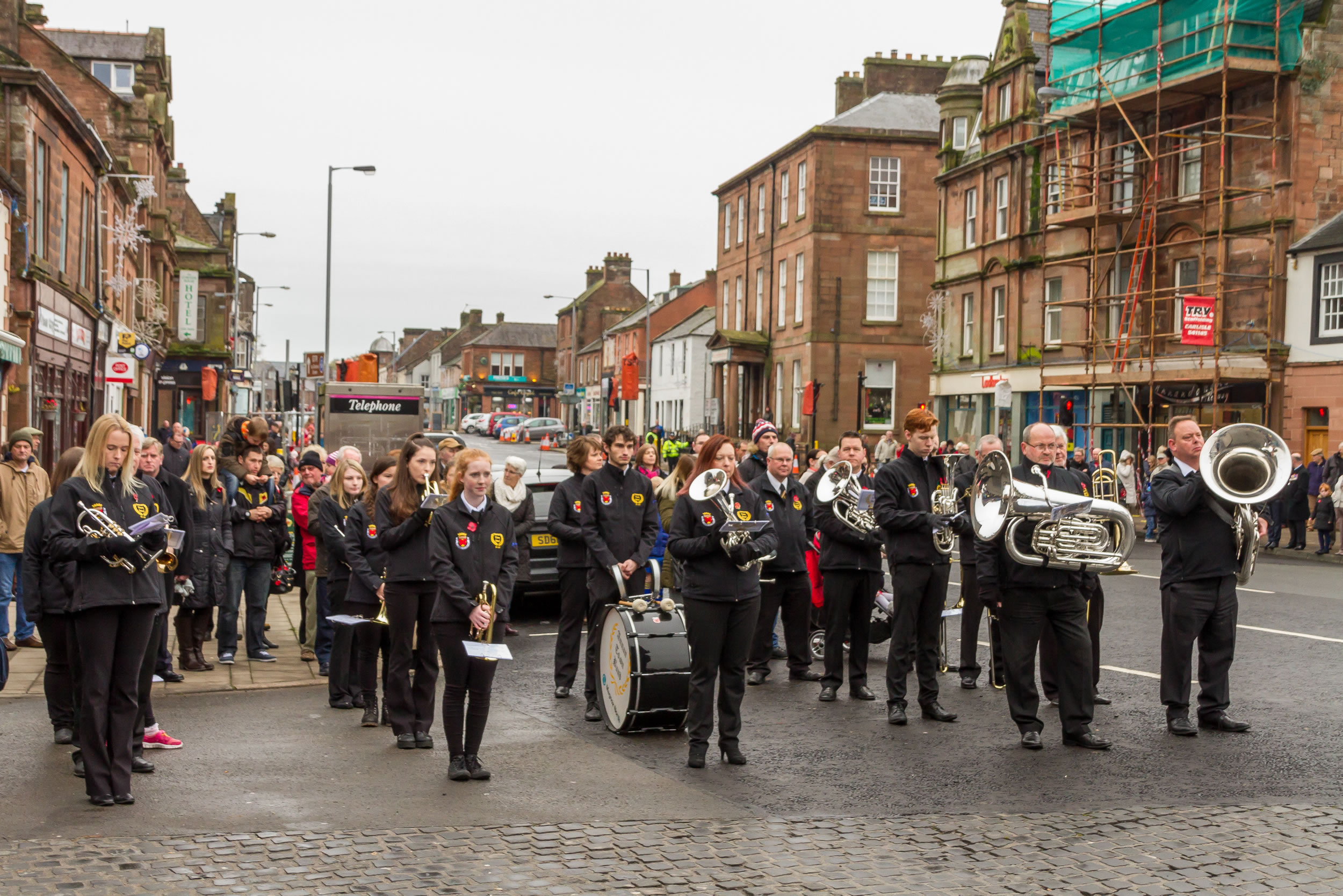 Annan Town Band at the Remembrance Day Parade in Annan on Sunday 13th of November 2016