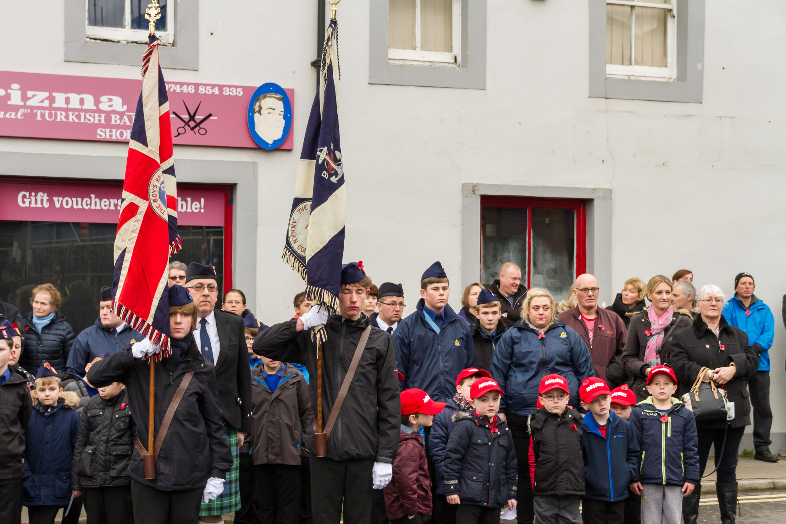 Boys Brigade at the Remembrance Day Parade in Annan on Sunday 13th of November 2016